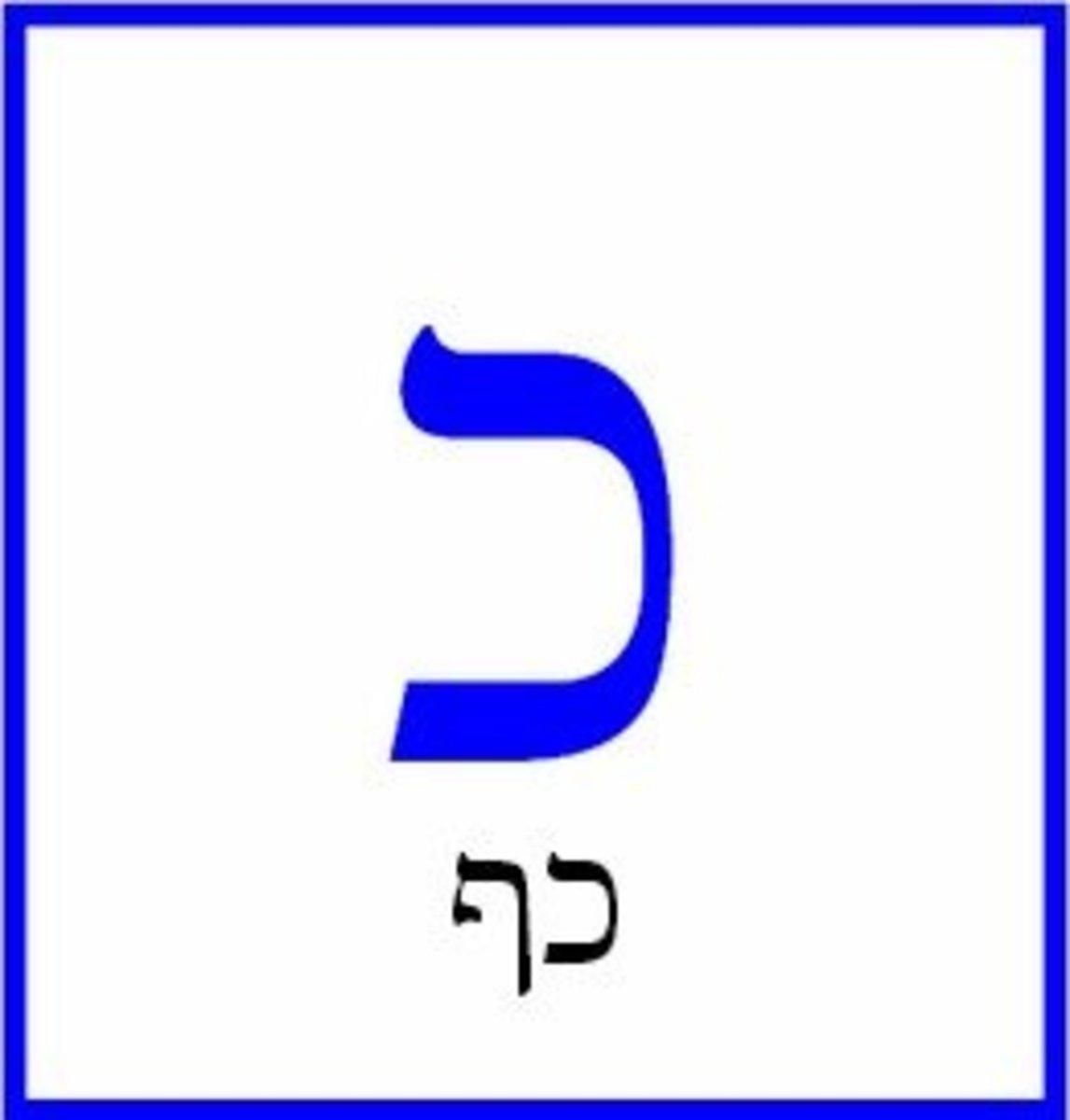 The Hebrew Letter Kaf or Khaf – כף