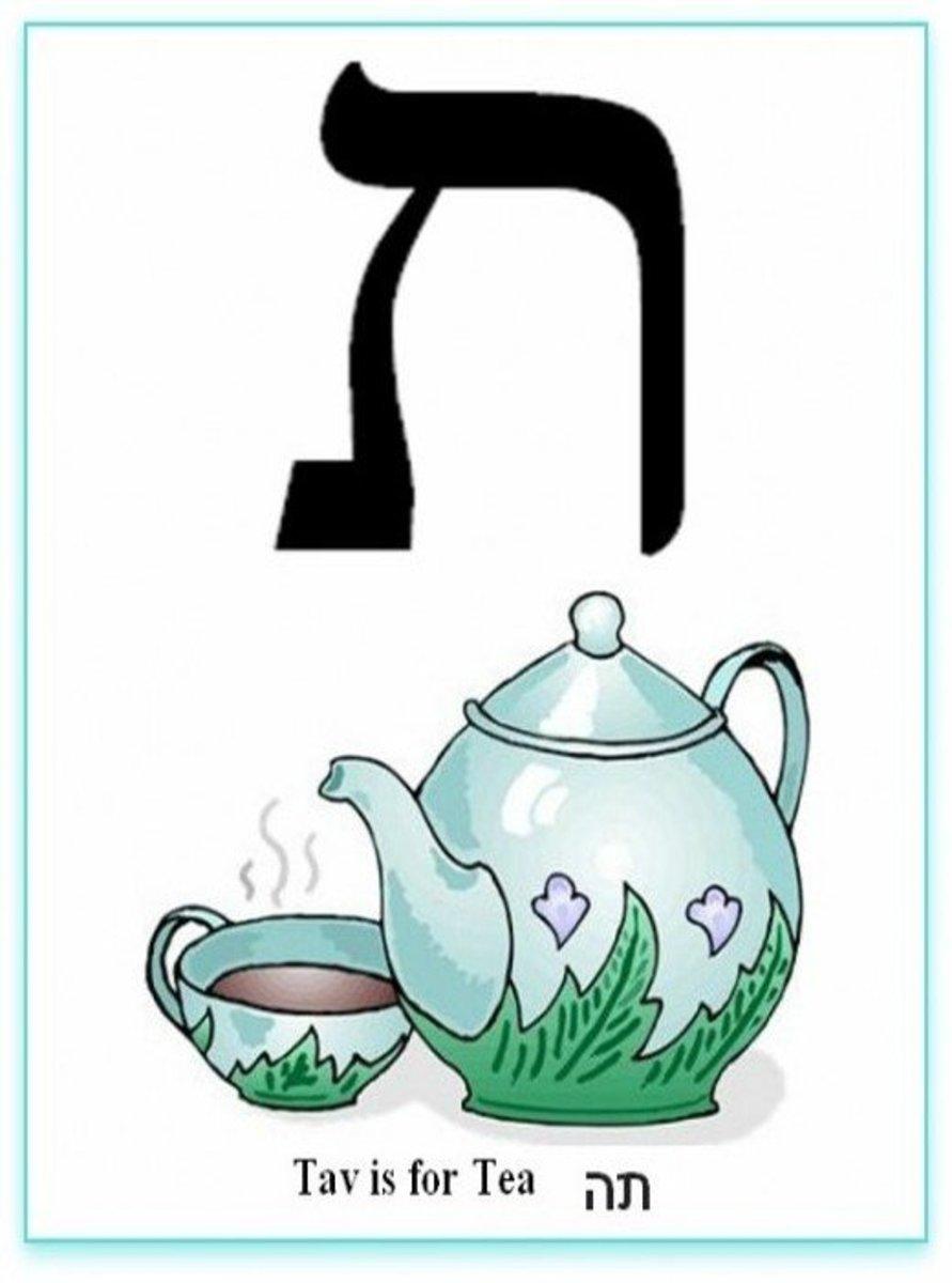 Hebrew Alphabet Letter Tav – האלפבית אוֹת תו
