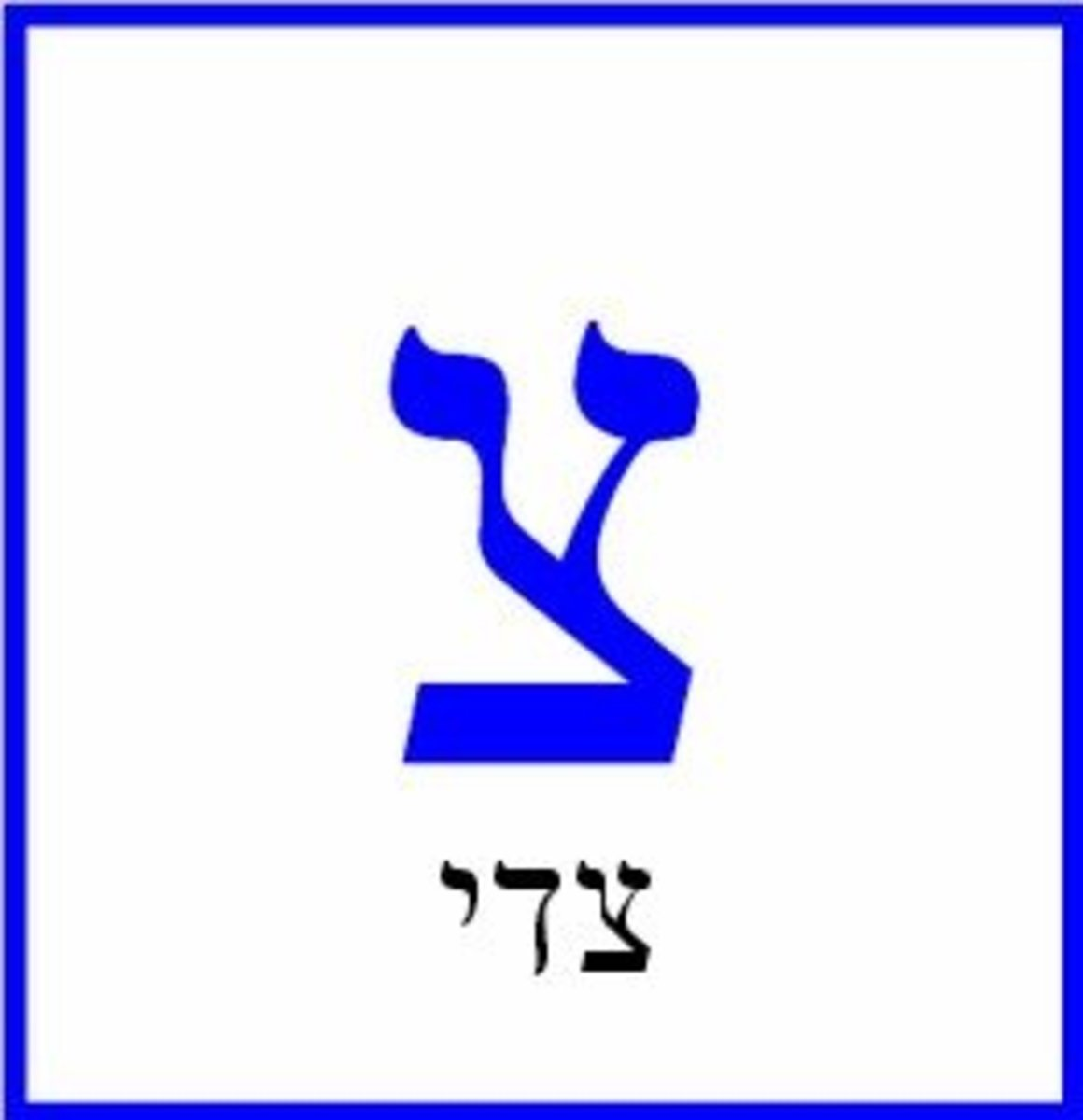 The Hebrew Letter Tzade – צדי