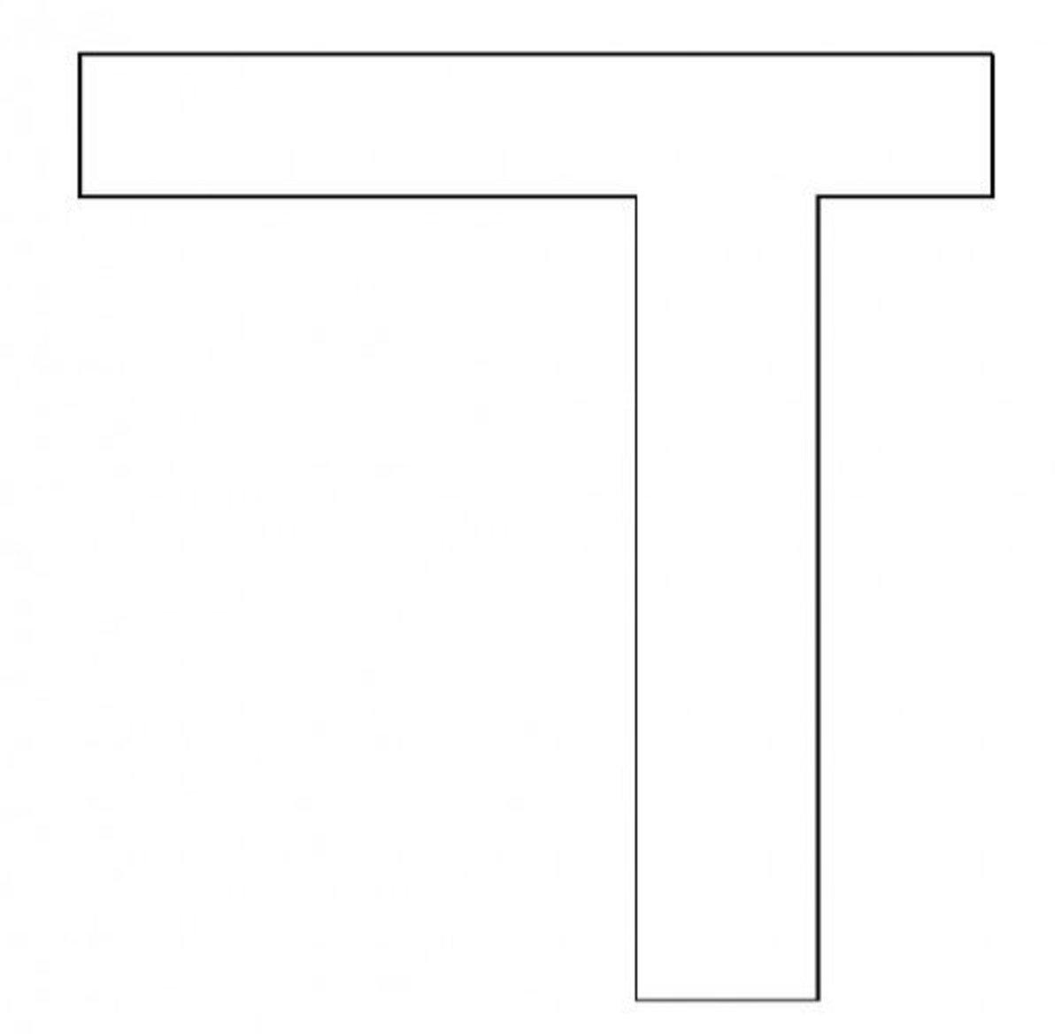 Hebrew Letter Dalet Coloring Page - דף צביעה אוֹת דלת