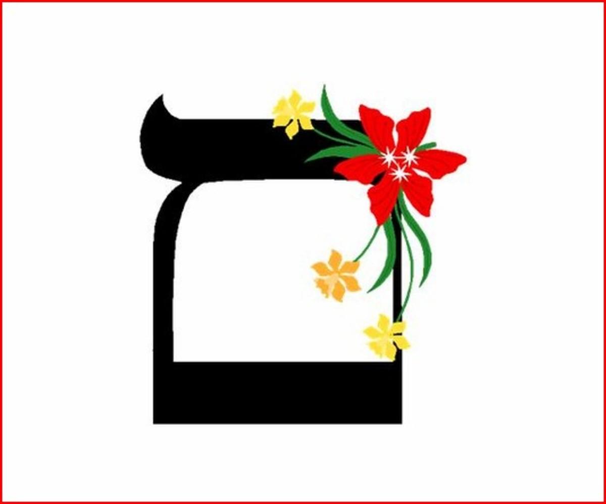 Hebrew Alphabet Letter Mem Sofit – האלפבית אוֹת מם סופית