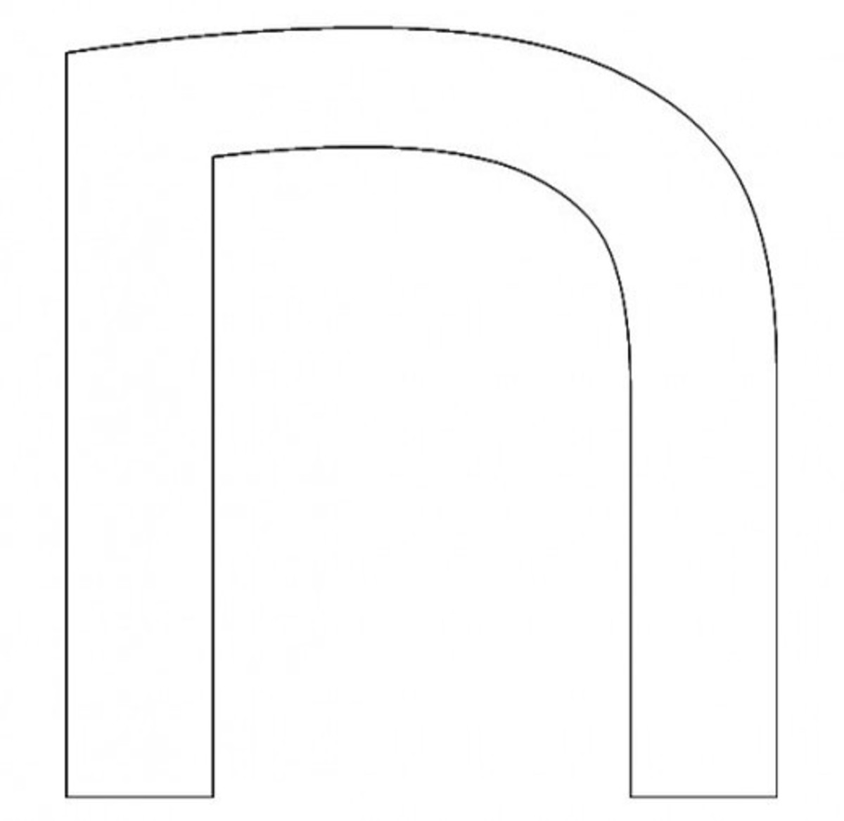 Hebrew Letter Chet Coloring Page - דף צביעה אוֹת חית