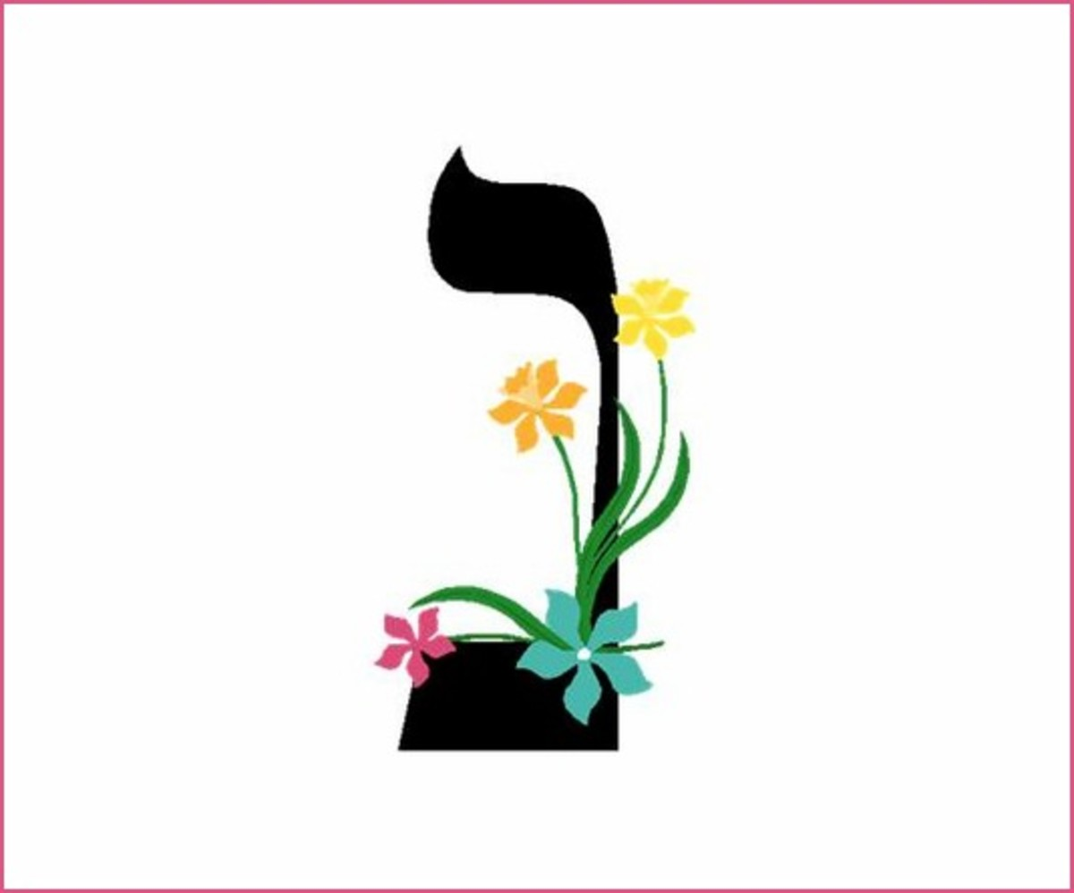 The Hebrew Alphabet Letter Nun – האלפבית אוֹת נון