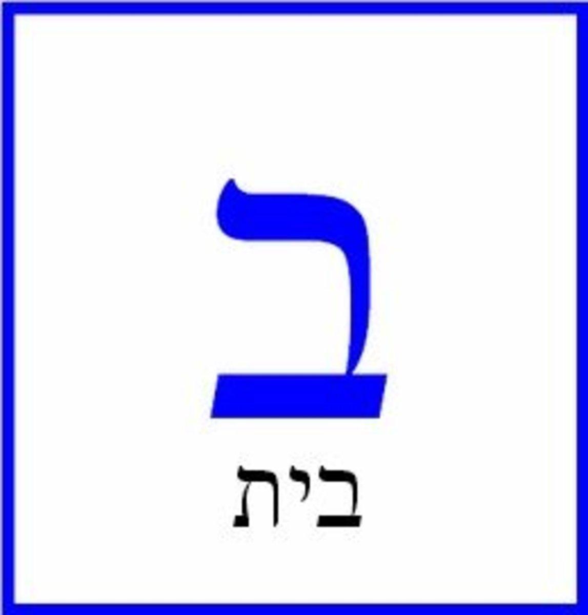 Hebrew Letter Bet or Vet – בית