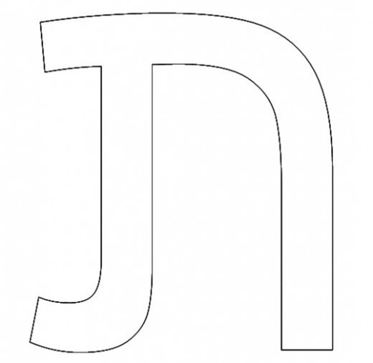 Hebrew Letter Tav Coloring Page - דף צביעה אוֹת תו