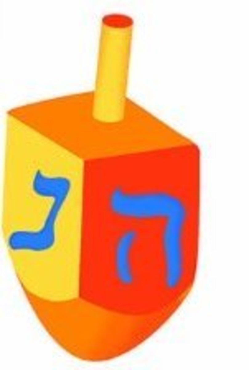 Chanukah Dreidel Letter Hey