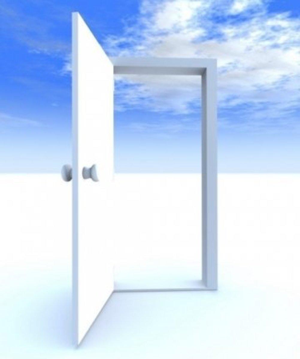 Opened Door Dalet (דלת) Shape