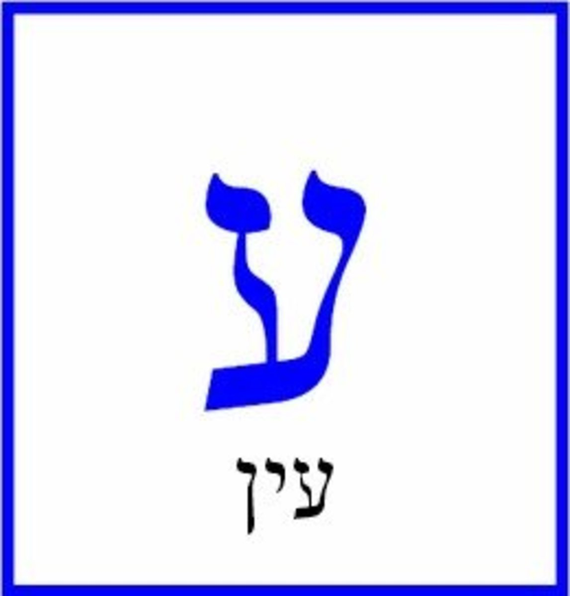 Hebrew Letter Ayin – עין