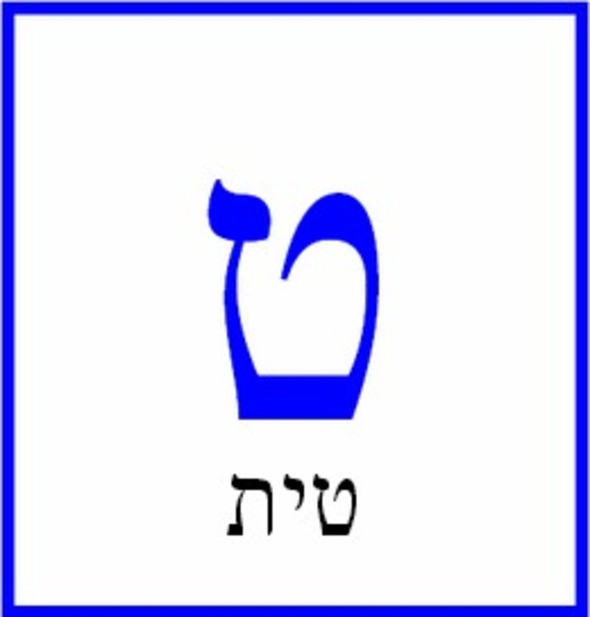 The Hebrew Letter Tet – טית
