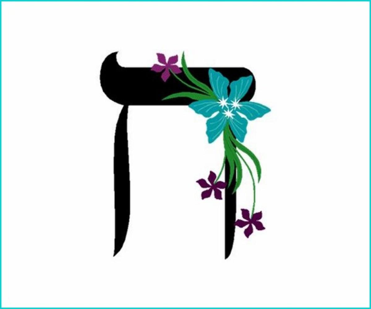 Hebrew Alphabet Letter Chet – האלפבית אוֹת חית