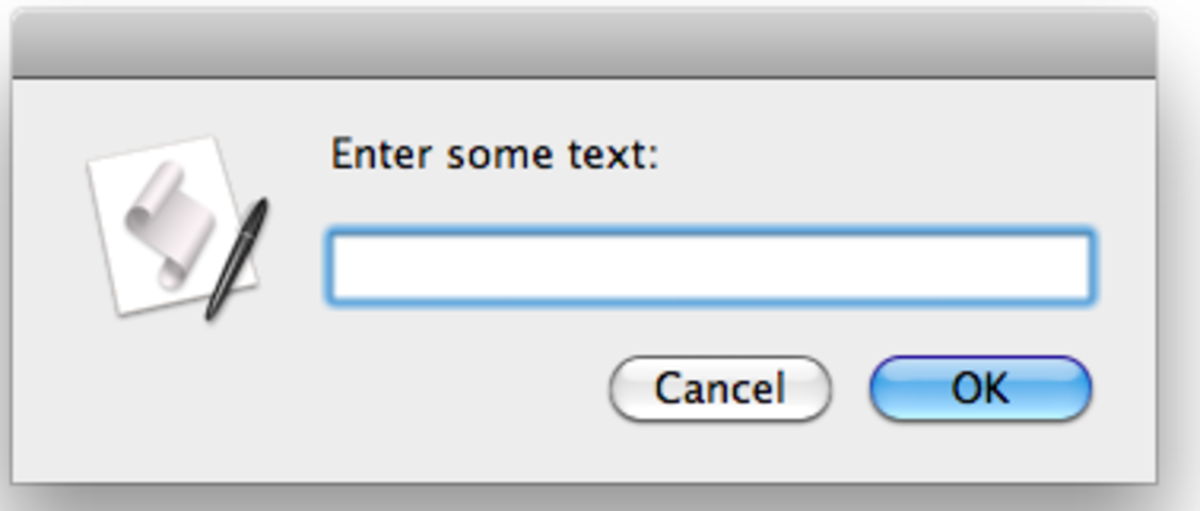 Text Entry Dialog Example