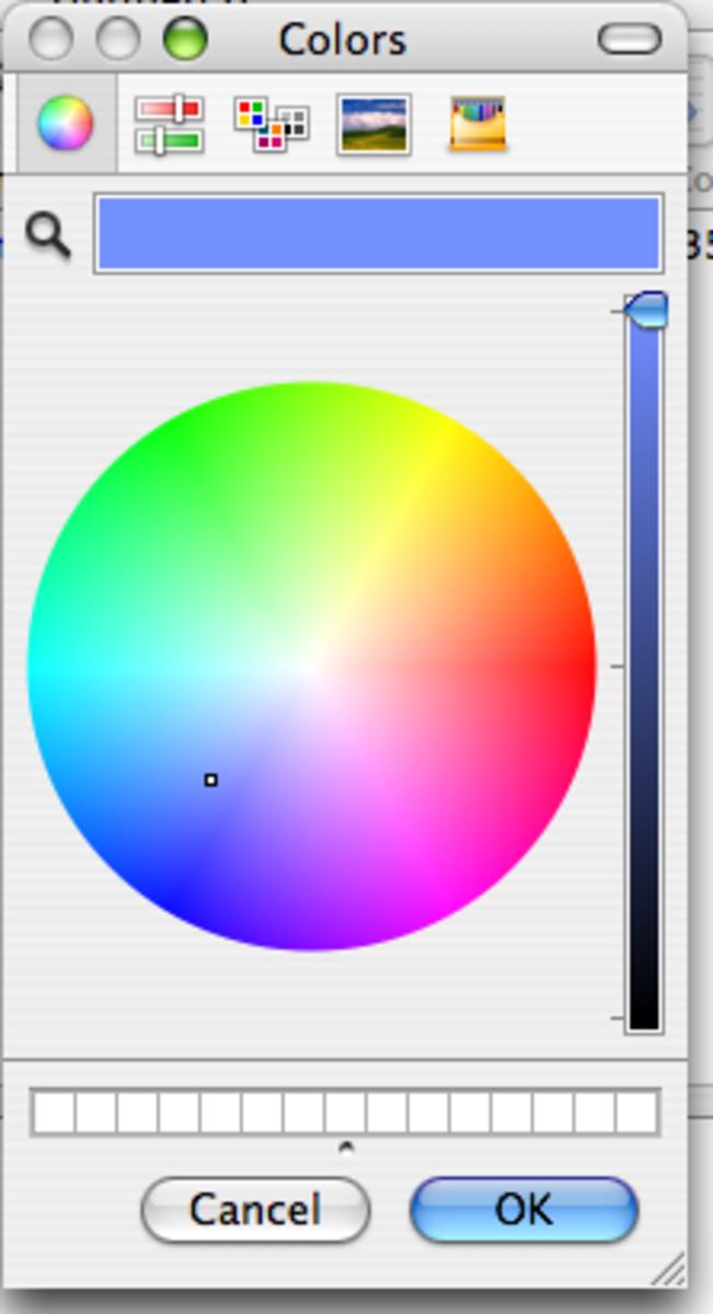 Choose color window