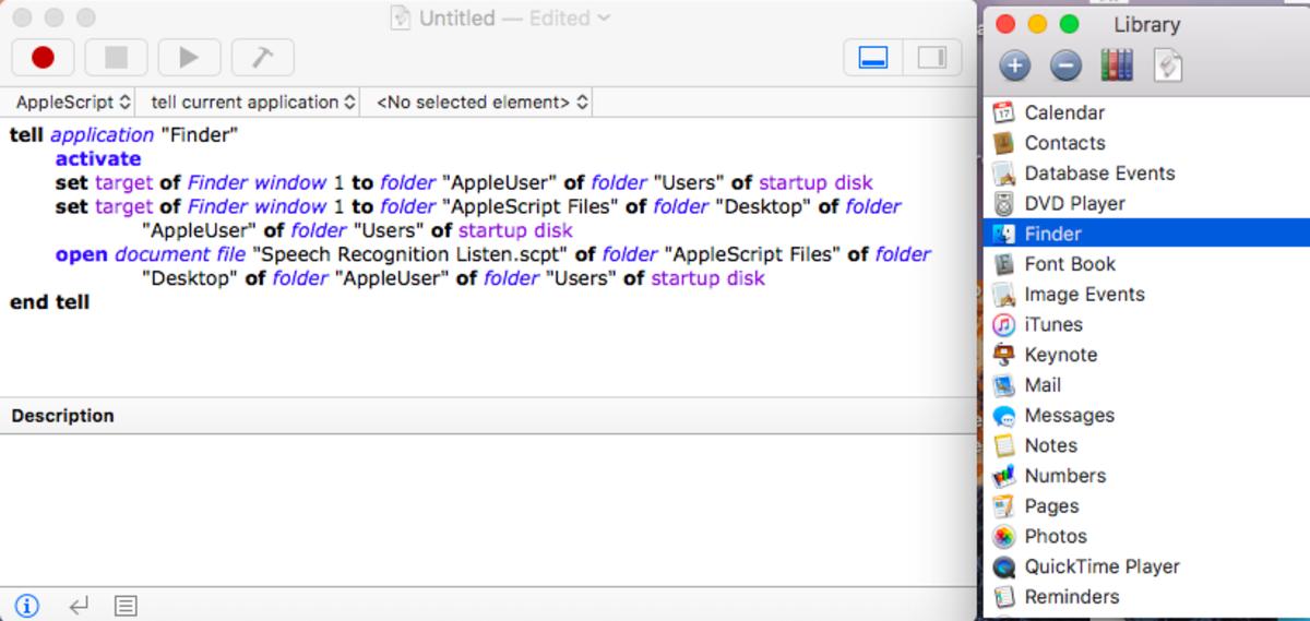 Script Editor : Finder Script