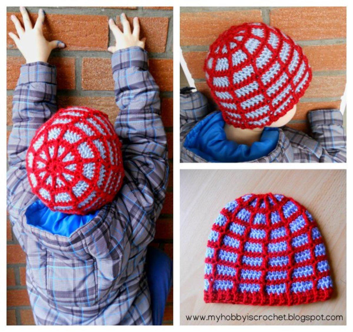 Spiderman web hat crochet pattern free