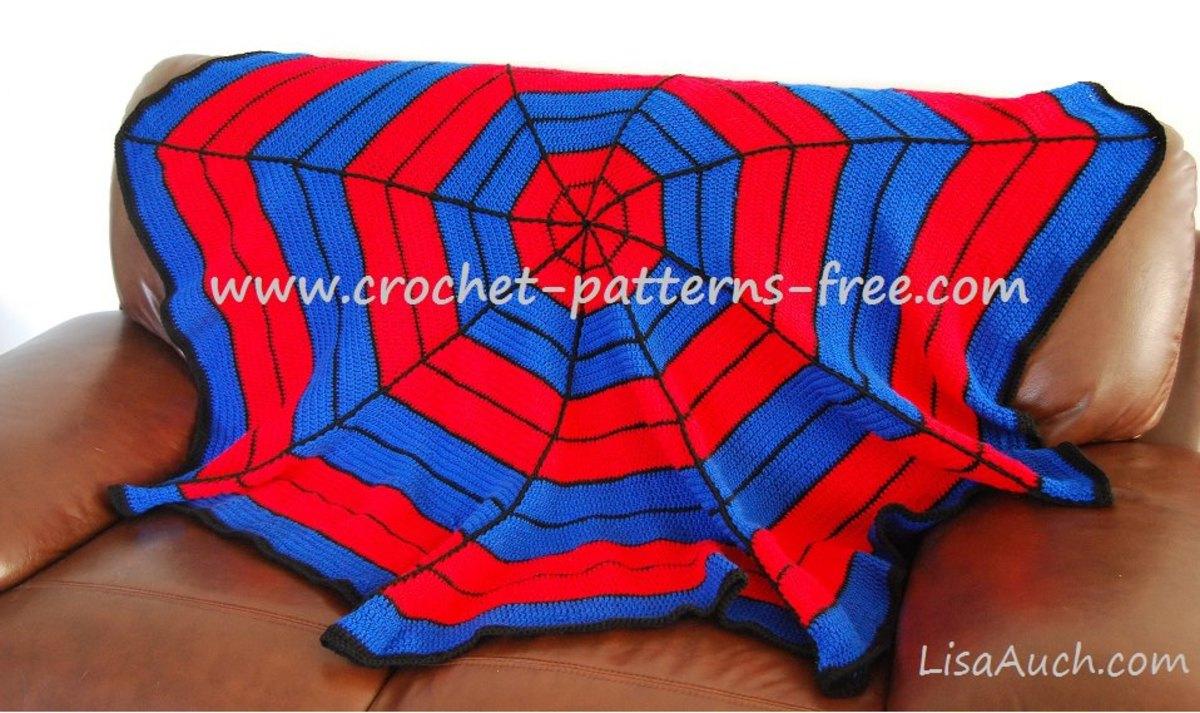 Crochet Pattern For Spiderman Blanket : Superhero Spiderman Inspired Crochet Blanket Ideas {FREE ...