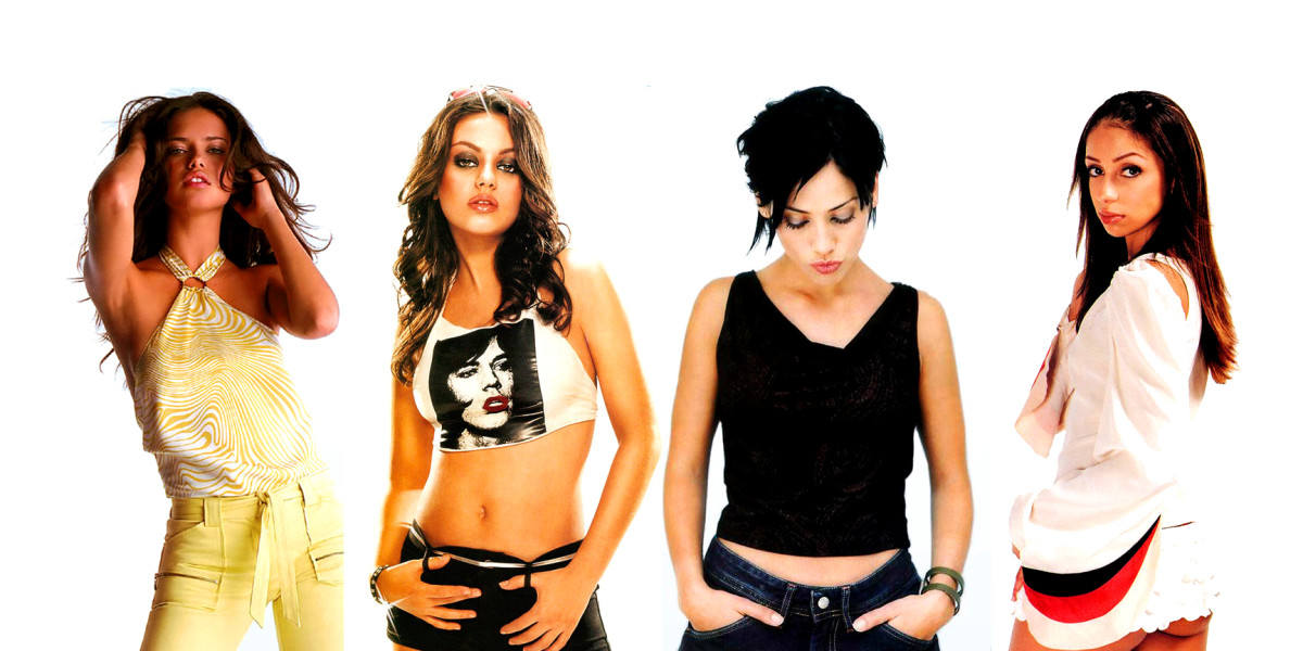 Natalie Imbruglia, third from the left, between Mila Kunis and Mya!