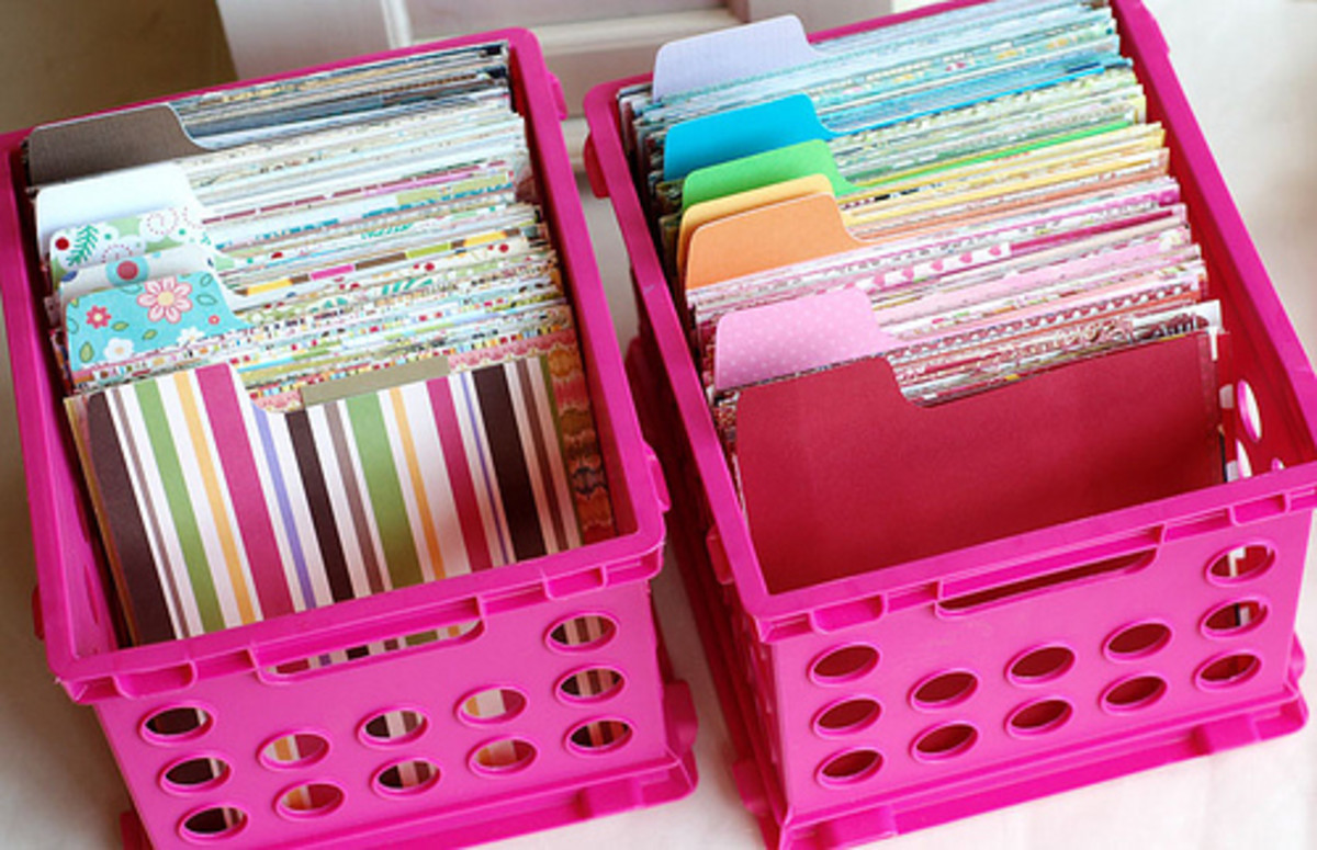 Paper can also be stored in easy to find and reasonably priced bins