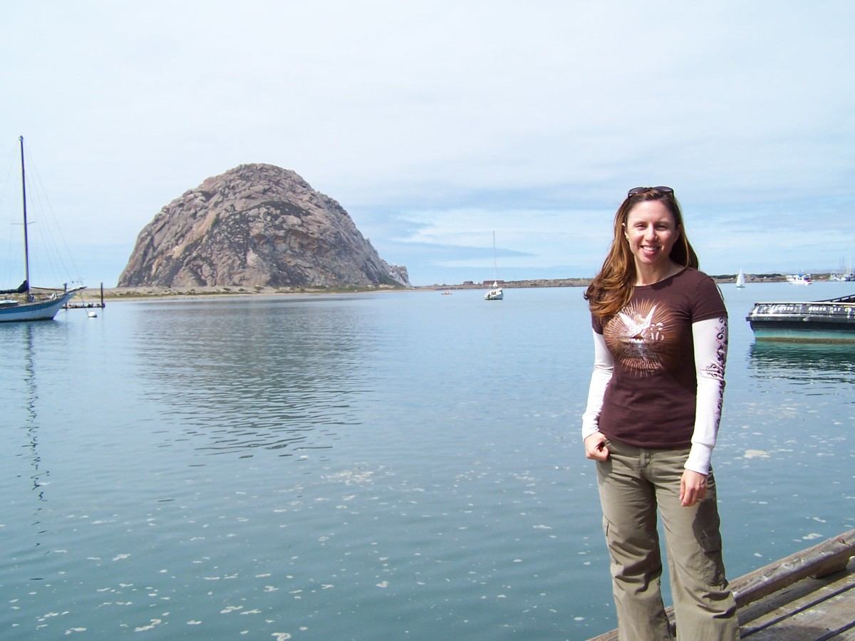 Morro Rock (pretty lady not included)