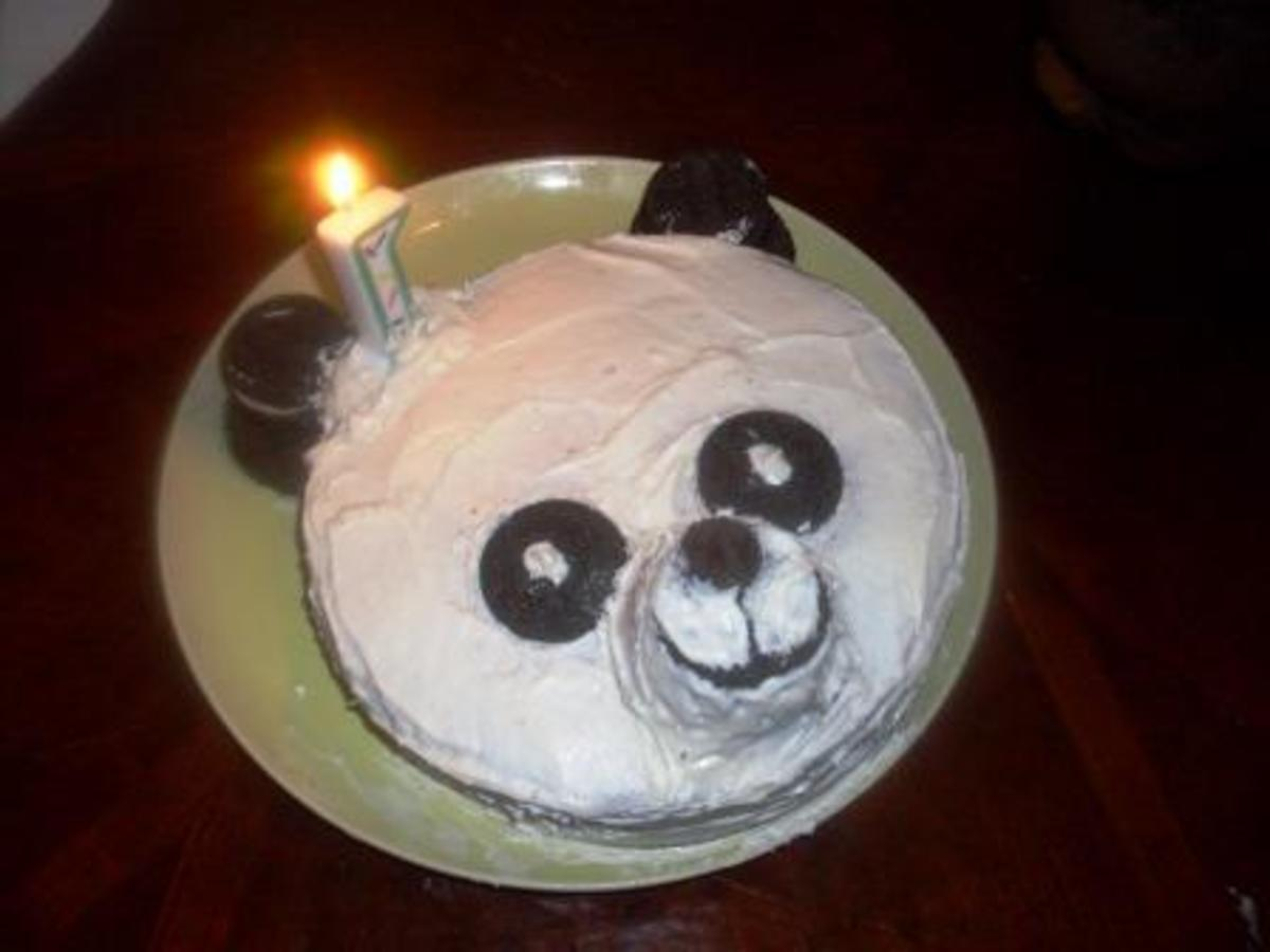 Learn how to make a cake that looks like a panda bear!