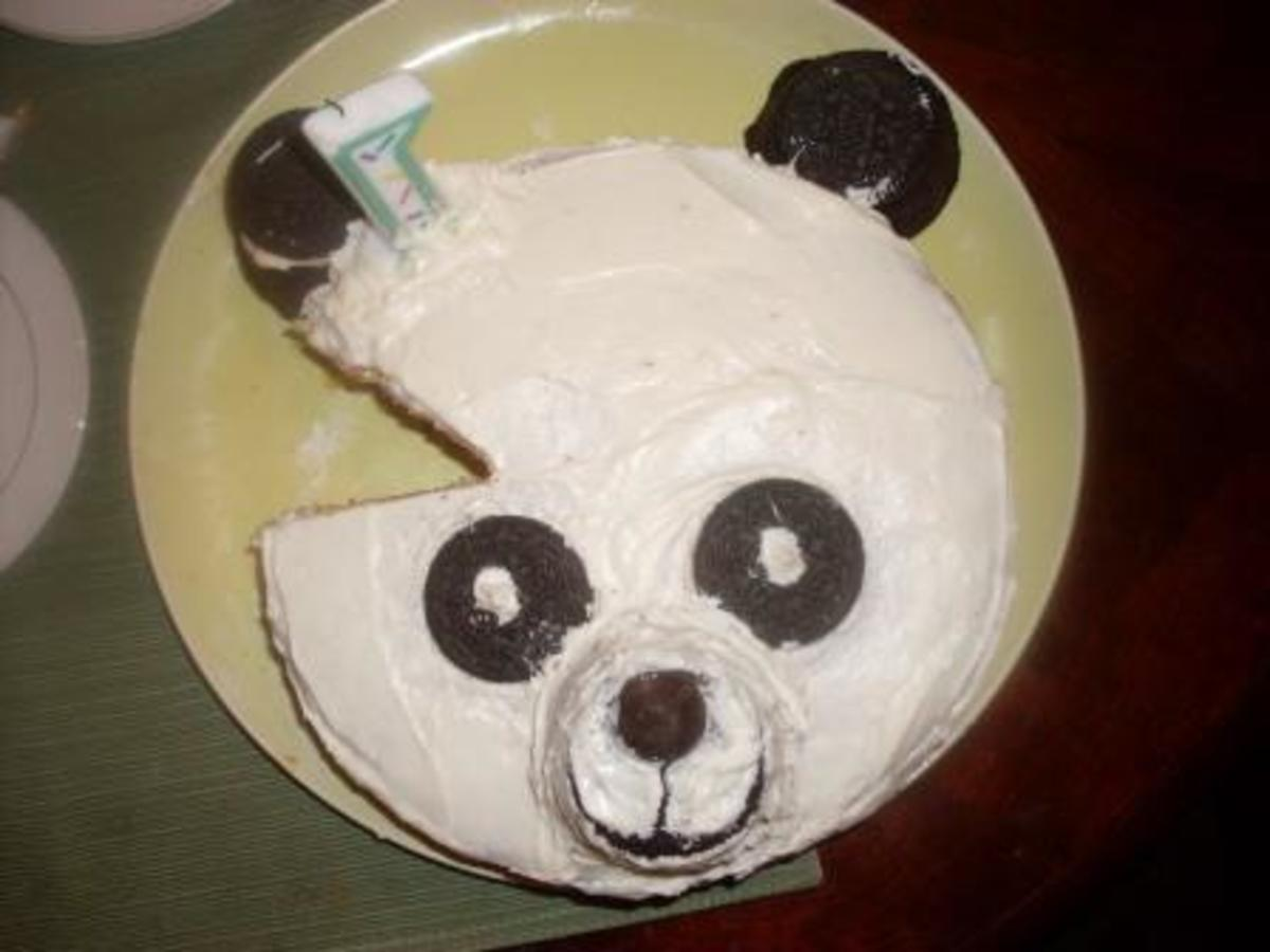 How to make panda bear birthday cake