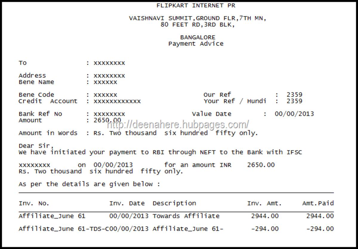 Payment Confirmation from Flipkart