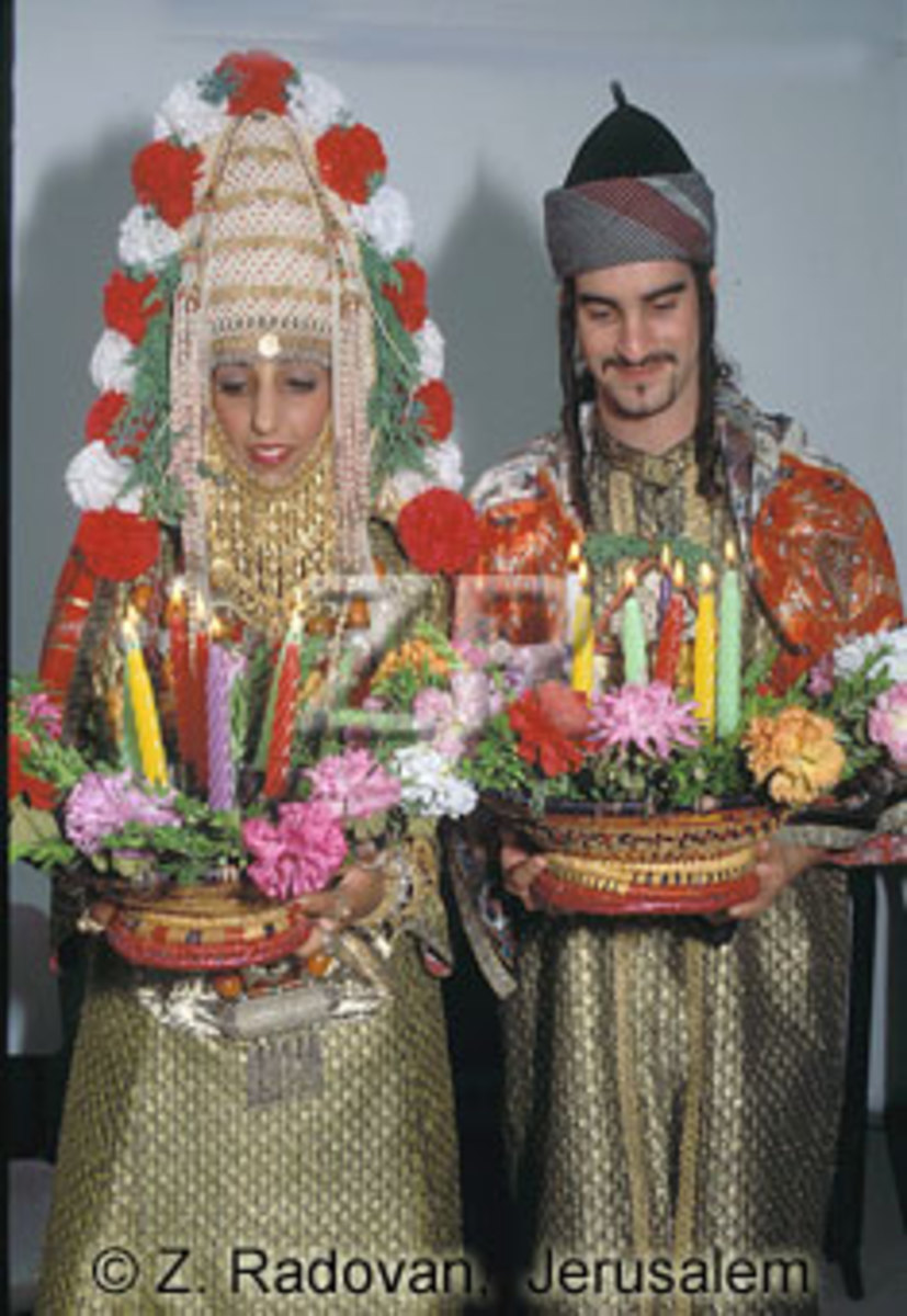 Young Yemeni Jewish Bridal couple