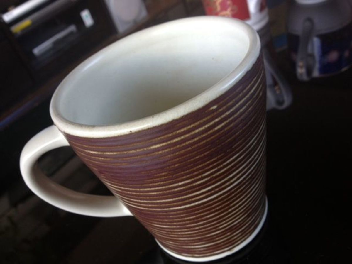 I bought this mug from Thailand to support a worthy cause. Hand-crafted by Thai craftsmen