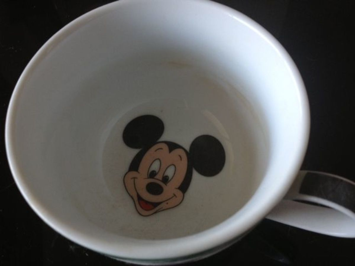 The inside of a Disney mug I got on one of my Florida trips.