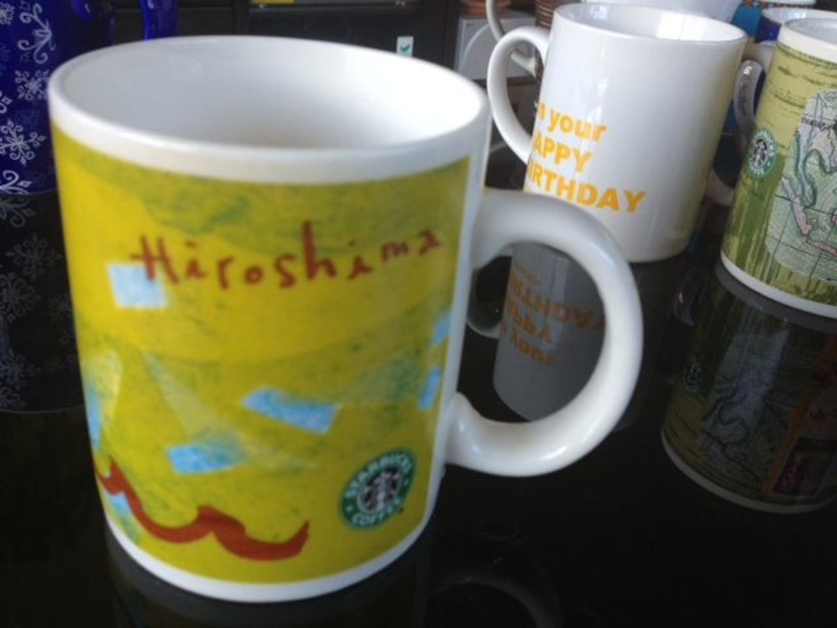 This is a mug from Hiroshima when my ex-roommate went to visit his relatives.