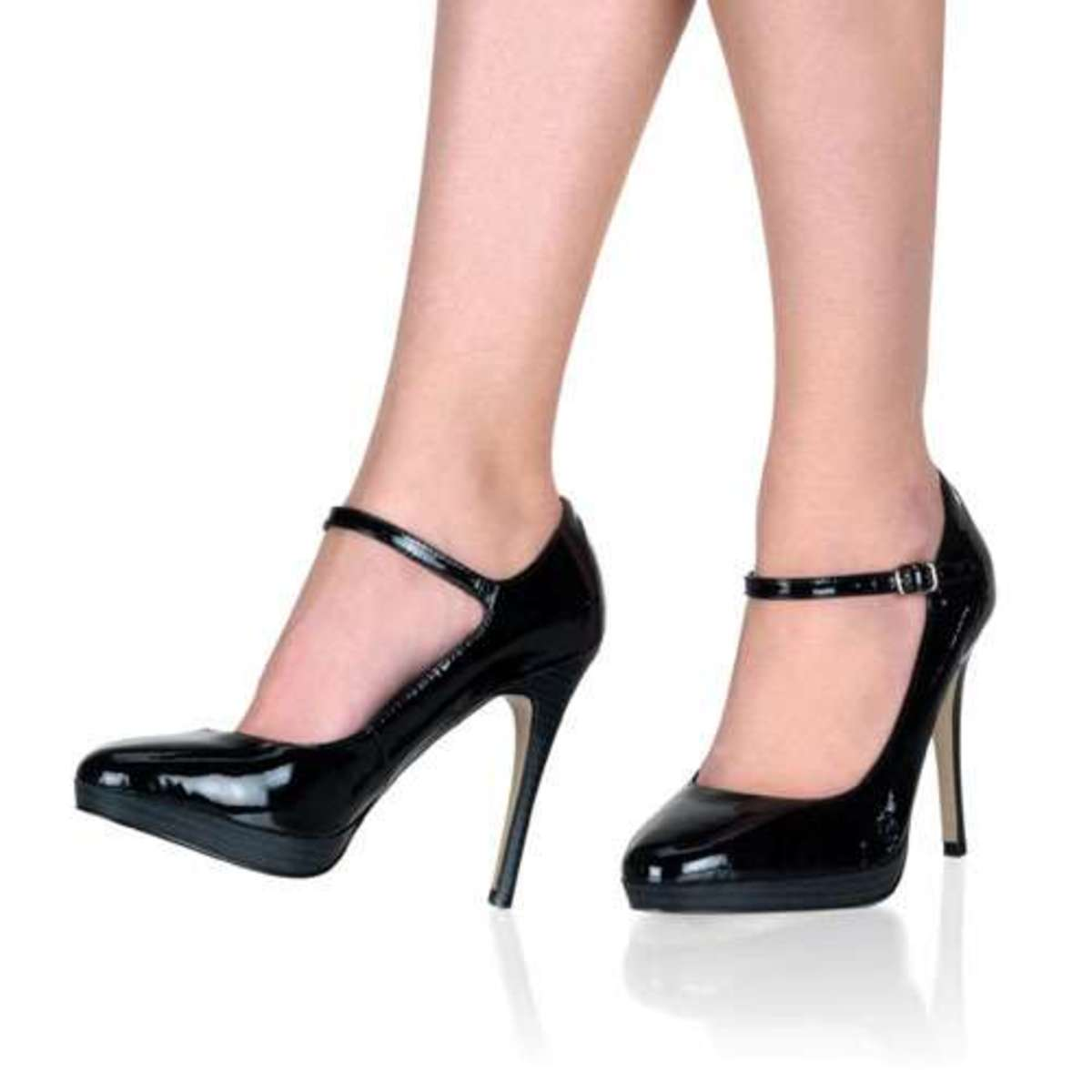 An example of fashion heels that aren't official Latin dance shoes that can be worn for salsa. (this heel would be considered too high for dancing, but the Mary-Jane style with the strap that secures the shoe to your foot is something you should get)