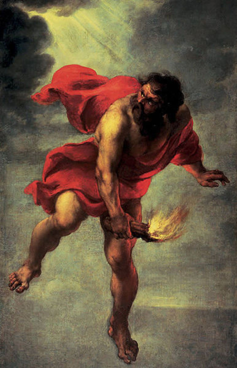 Prometheus Carrying Fire by Jan Cossiers, 1600-71