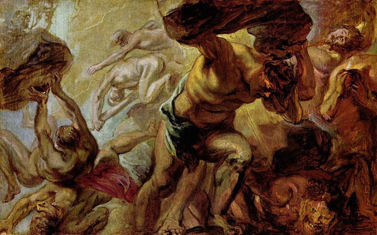 Titanomachy by Rubens, c 1637-8