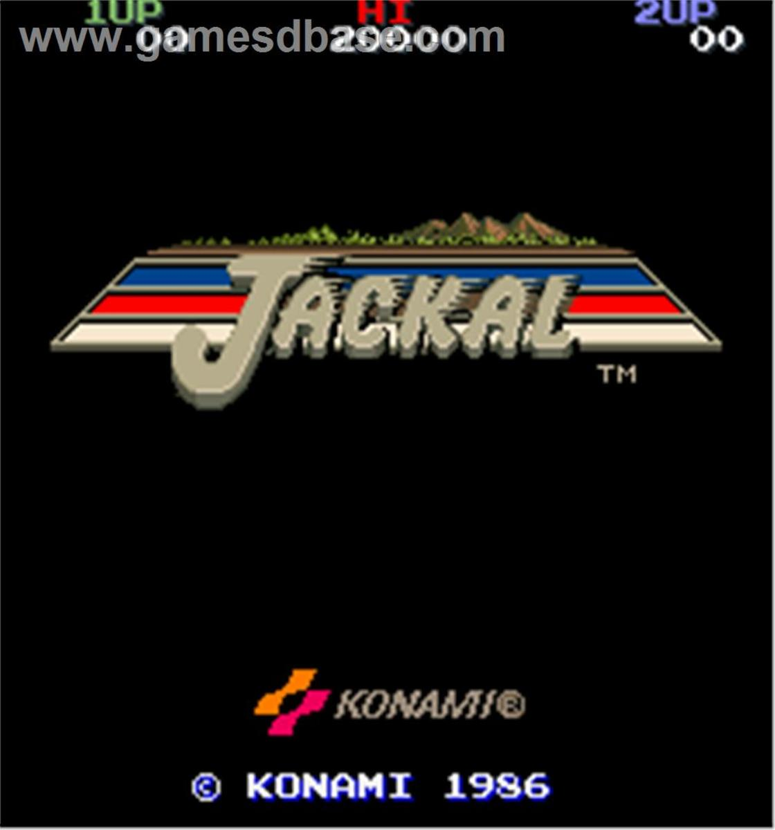 The opening screen to Konami's Jackal
