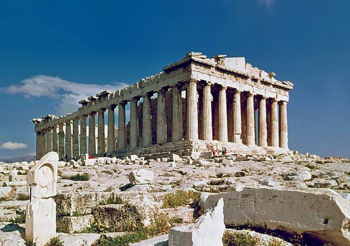 The Parthenon, Athenian Templb