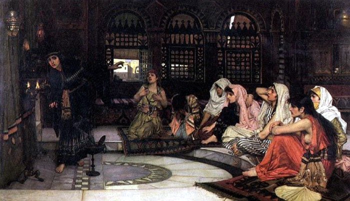 Priestesses consulting the Oracle, by John William Waterhouse, 1884