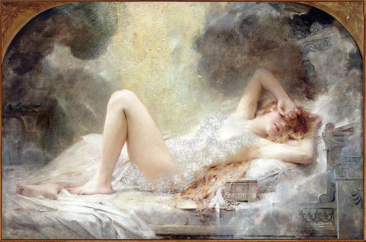 Danae and the shower of gold by Le Triomphe du Cygne, 1908