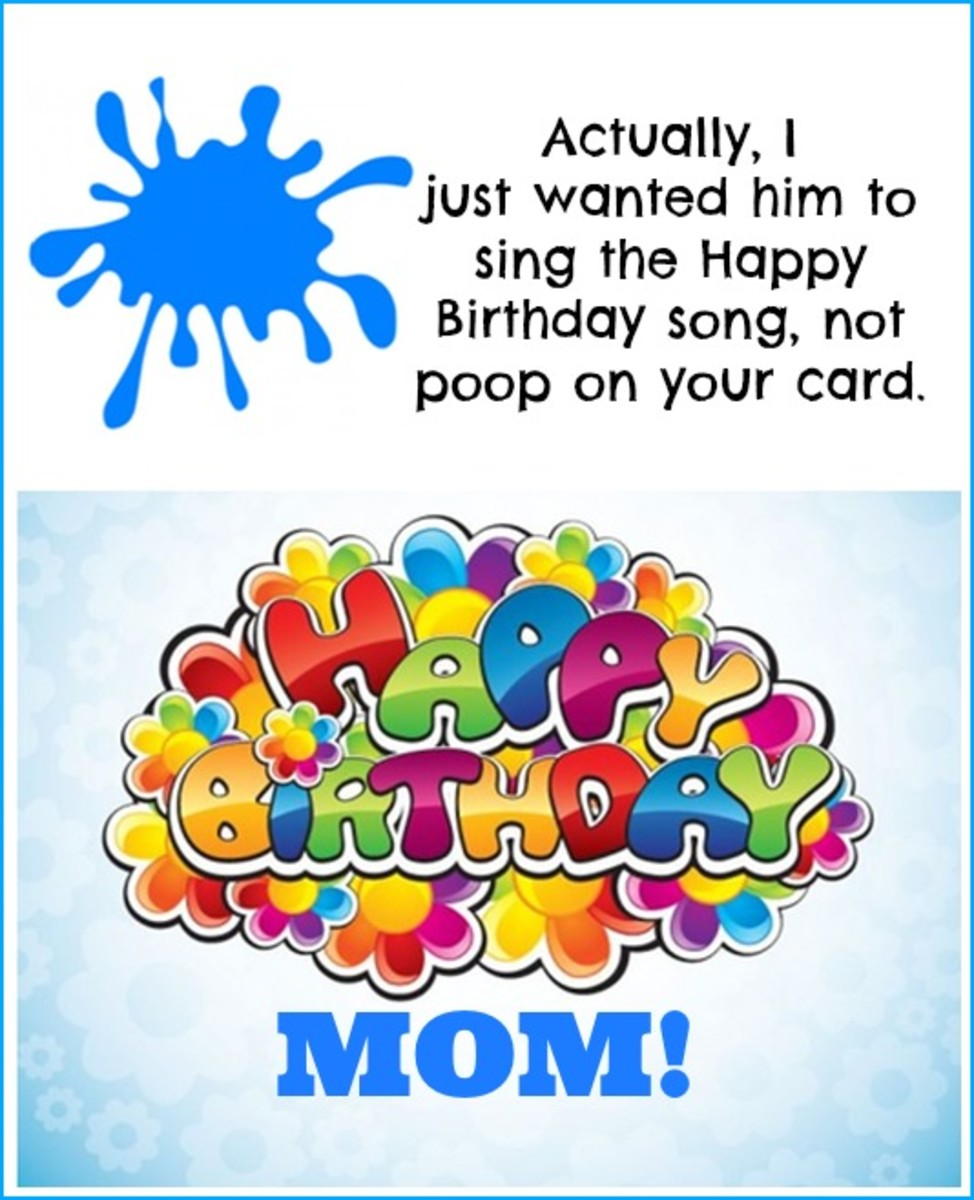 Inside Funny Card for Mom's Birthday