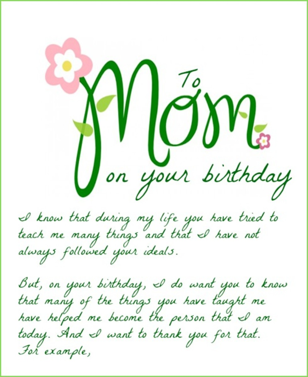 Happy Bday Mom Quotes: Birthday Wishes For Mom