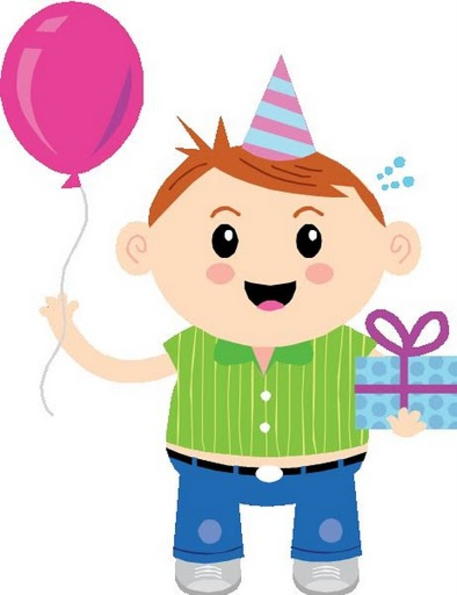 Boy with Happy Birthday Present