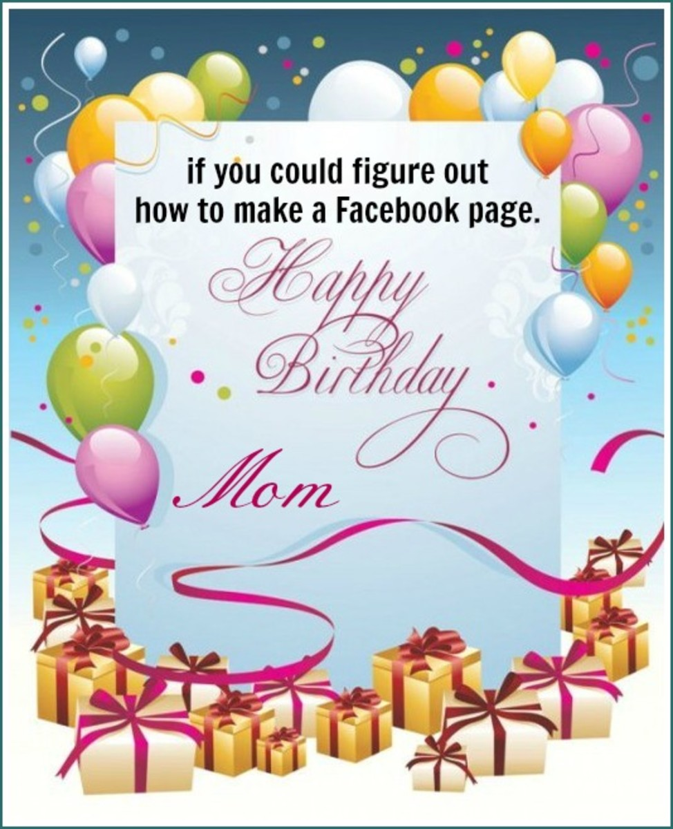 Inside Funny Birthday Card for Mom
