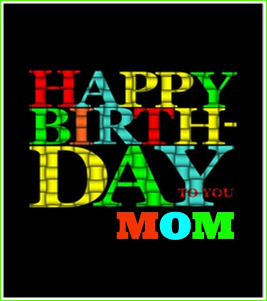Happy Birthday to Mom Funny Card