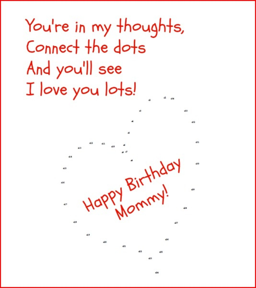 Happy Birthday Mom Poem from Child