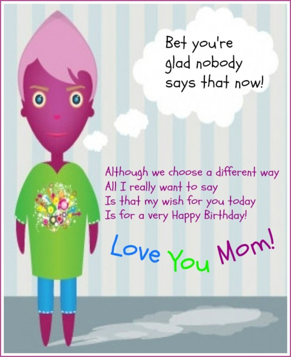 Inside Happy Birthday Mom Poem from Teenager