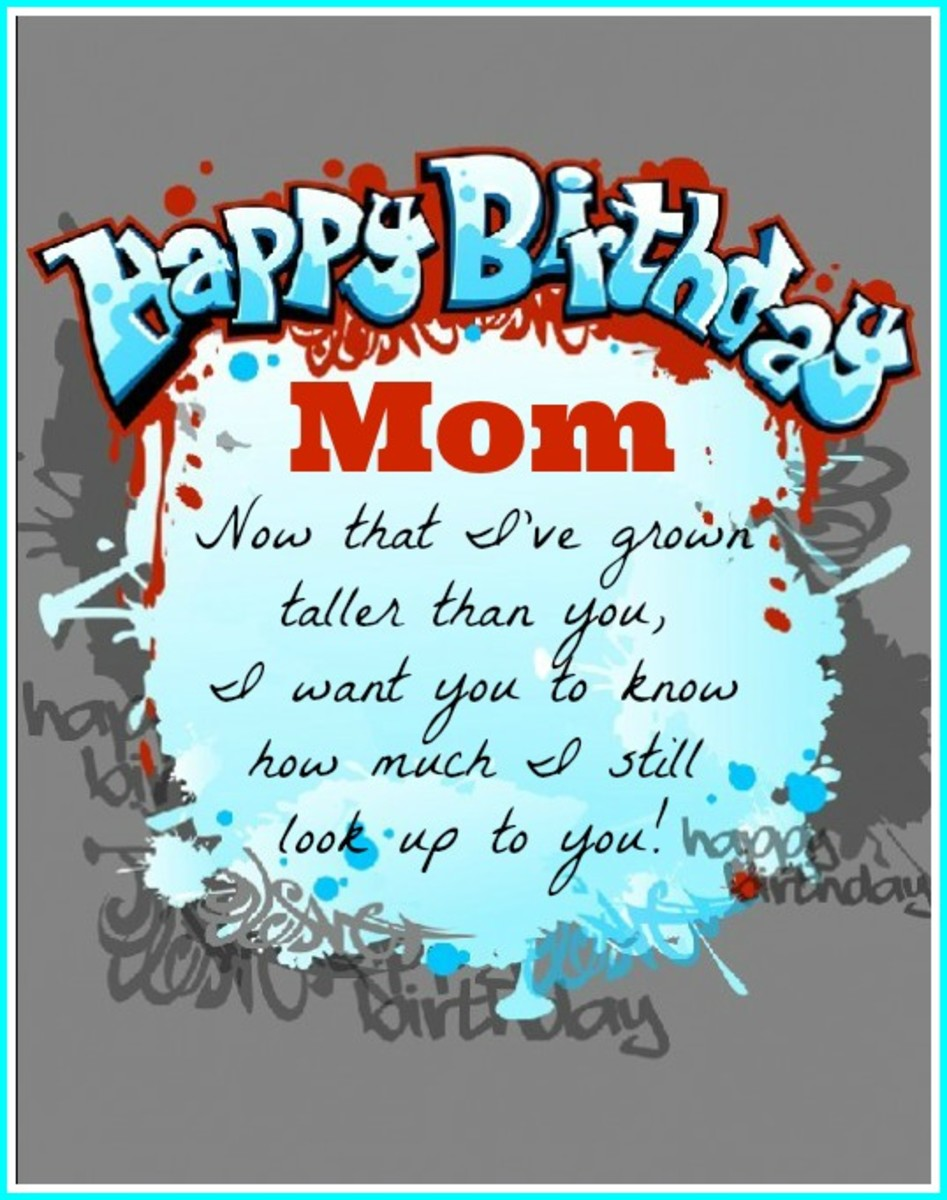Mom Birthday Quote from Older Child