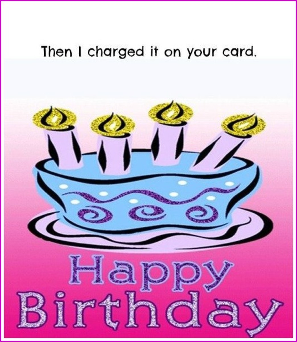 Inside Funny Happy Birthday Mom Poem Greeting Card