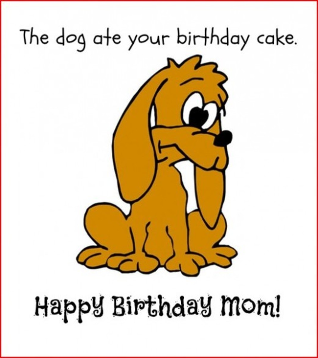 Inside Funny Mom Birthday Card