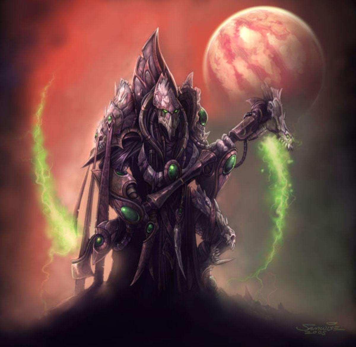 StarCraft 2 - A Protoss creature named Dark Templar