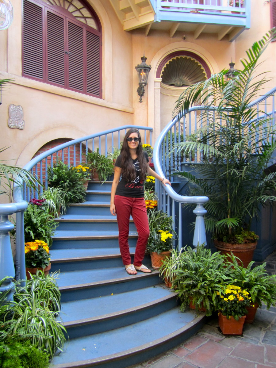 Here I am on the staircase in 2013 days before closing.