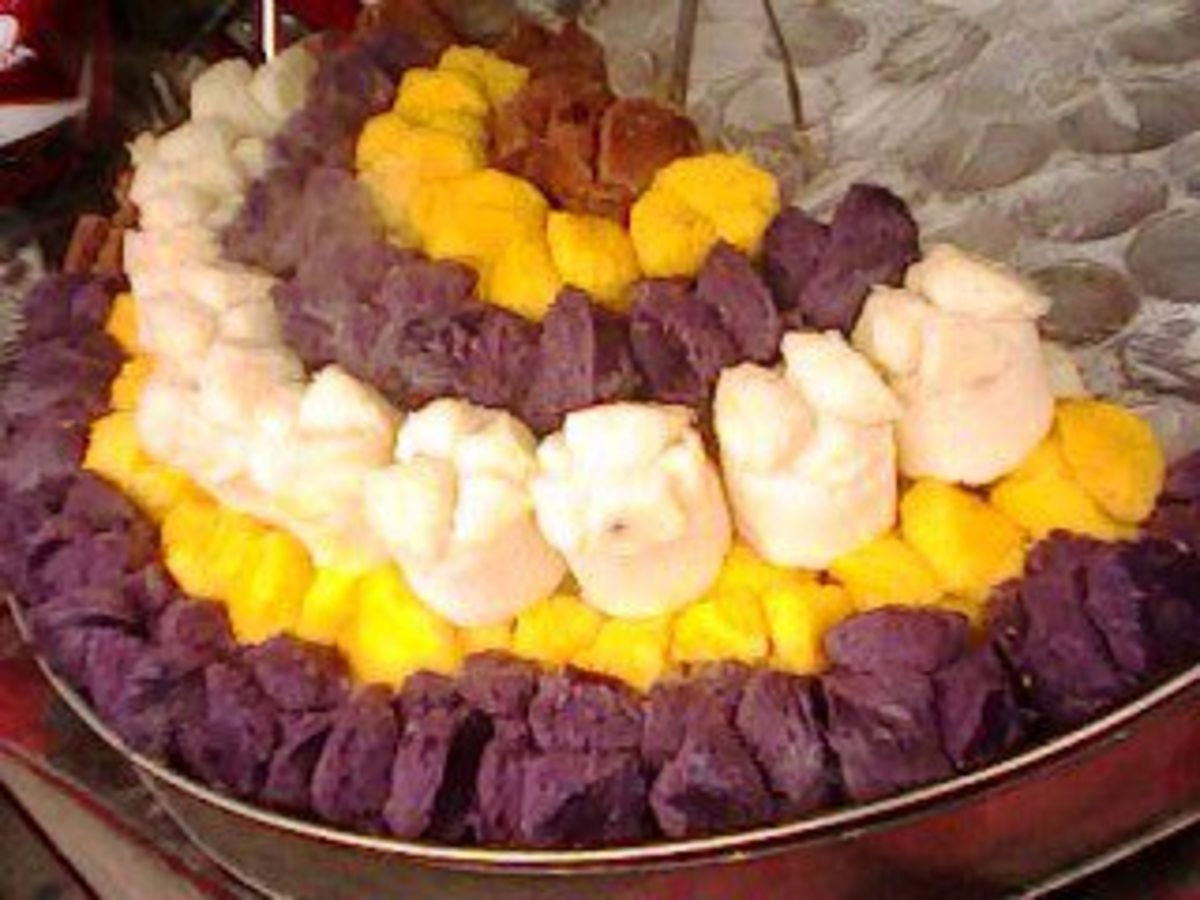 Colorful rice cakes