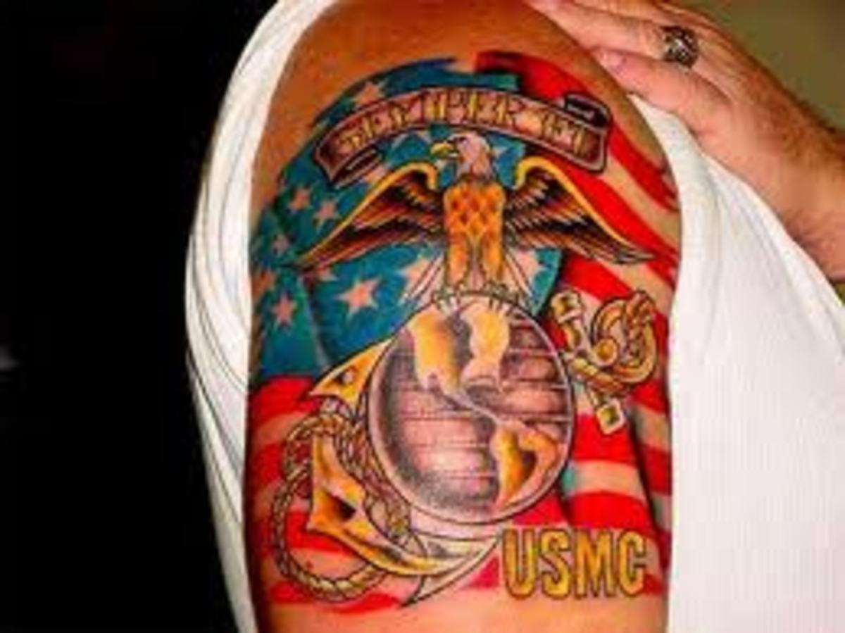 USMC Tattoo Designs And Meaning-USMC Tattoo Ideas And Pictures-USMC History And Symbols